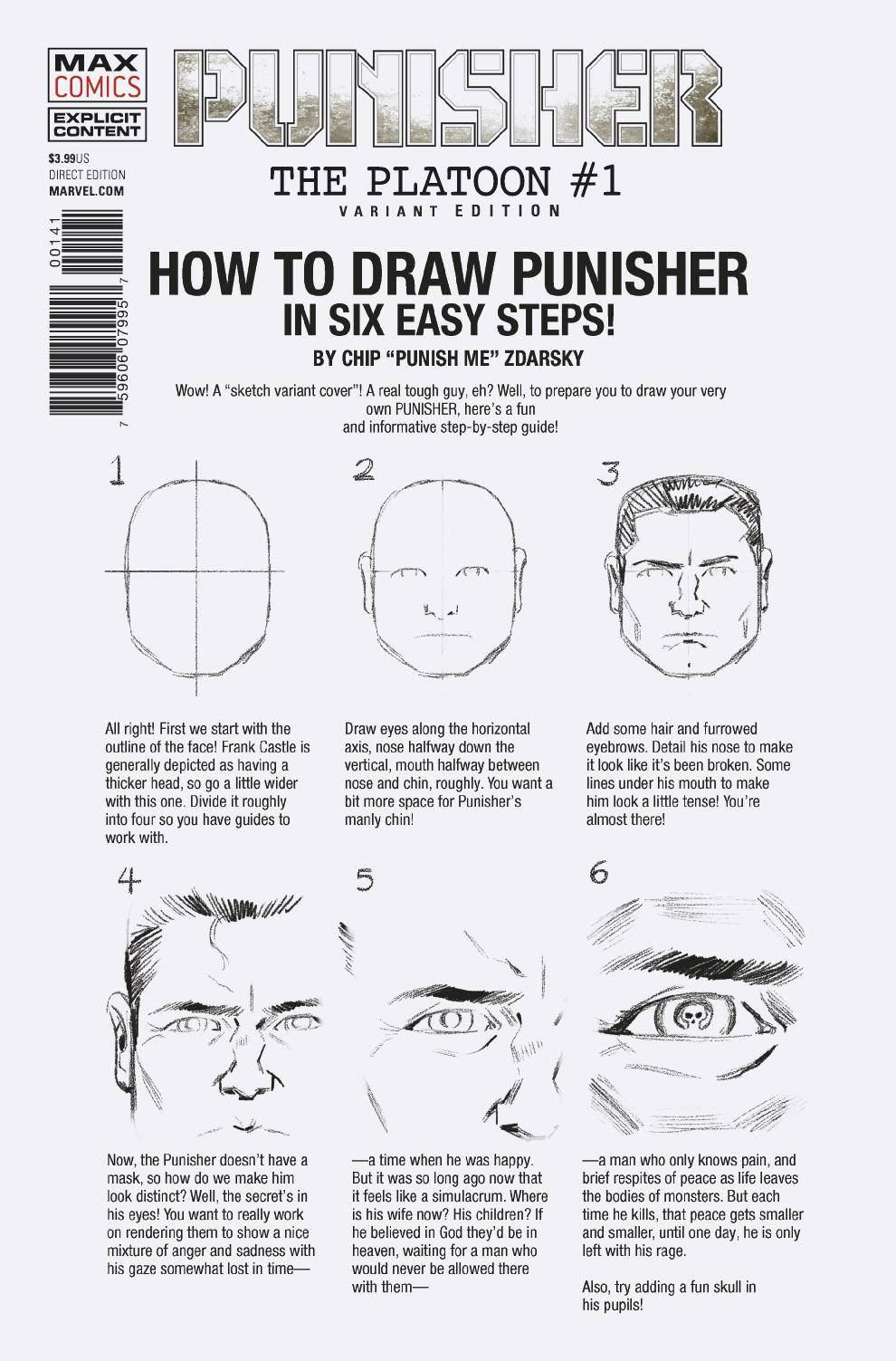 PUNISHER PLATOON (MR) #1 (OF 6) ZDARSKY HOW TO DRAW VARIANT COVER