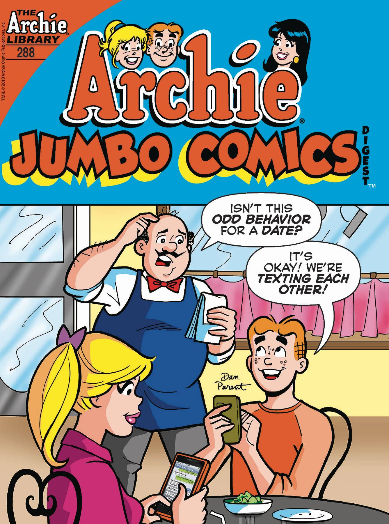 Image result for ARCHIE JUMBO COMICS DIGEST #288