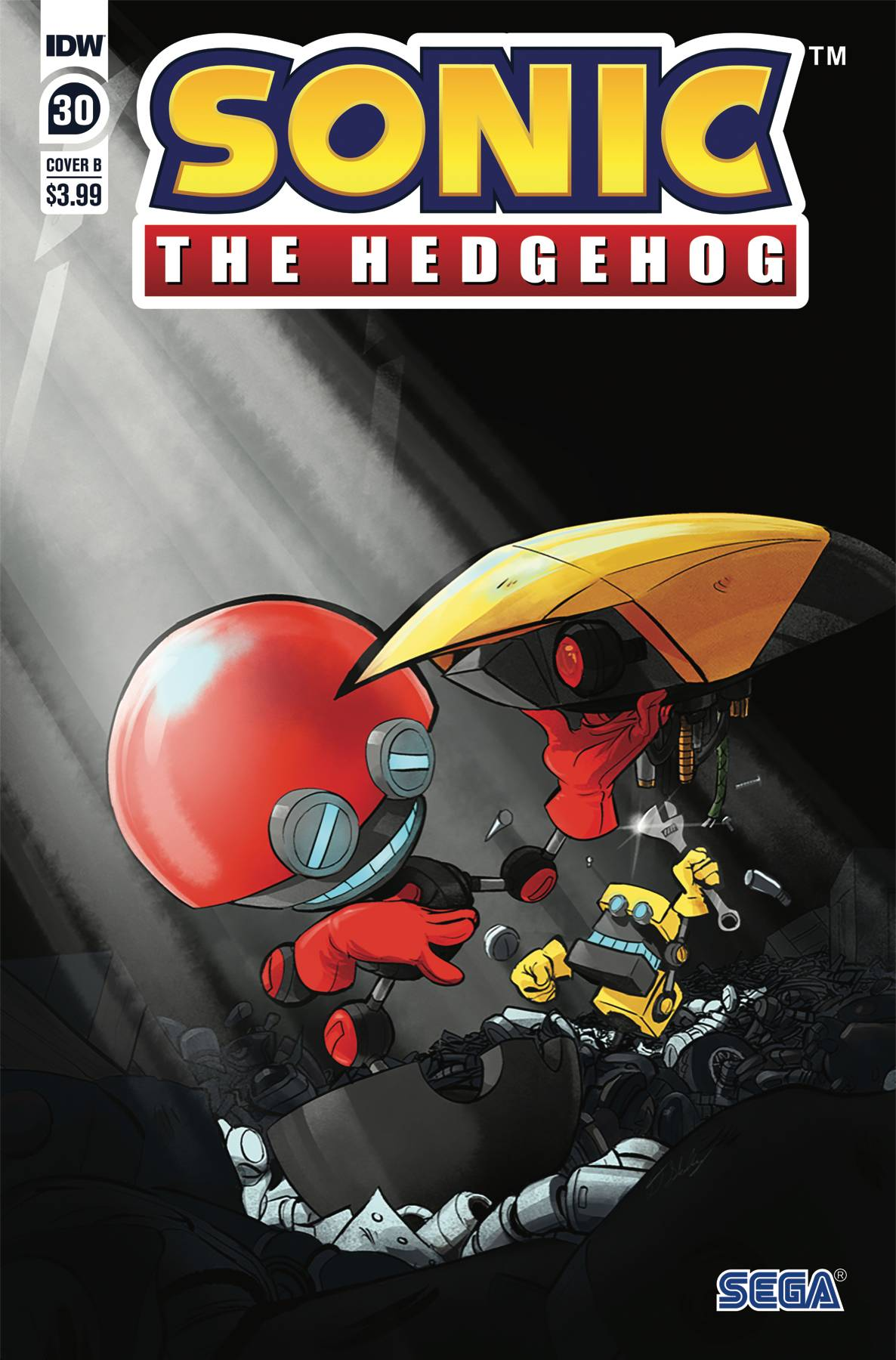 Sonic The Hedgehog Cover B Skelly